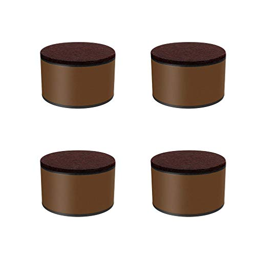 Set van 4 meubelpoten van koolstofstaal, sofa-sofavoeten, bedpoten voor tafelstoelen, hoogte ronde vloerbeschermingsmat, voor bijzettafels, eetkamer, bar, doe-het-zelf, salontafel (40 x