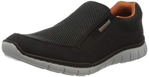 Rieker Herren Frühjahr/Sommer B8792 Slip On Sneaker, Schwarz (Schwarz/Grau-Schwarz/ 00 00), 45 EU