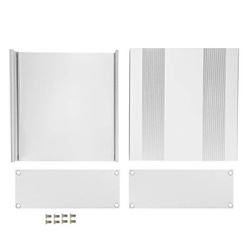 Aluminium-Projektbox, Aluminium-Projektbox Matt Silber Split Typ DIY Elektronische Gehäuseschale 54x145x150mm
