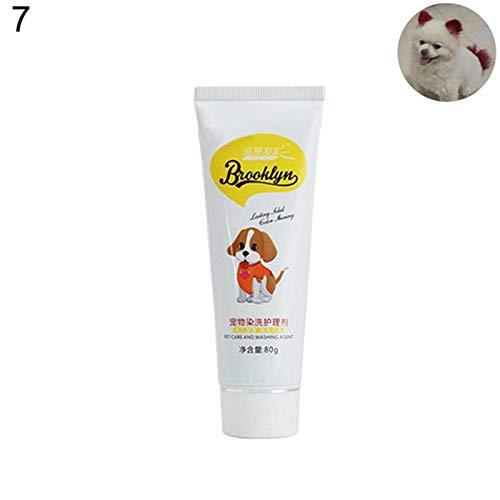 AKDSteel Schnelle Haarfarbe Creme Friseur Gel für Hunde Bichon Pomeranian Grooming Weinrot 80 ml