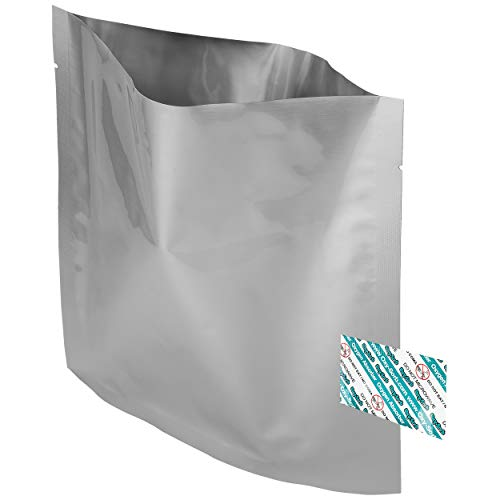 20 - 1 Quart Mylar Bags & Oxygen Absorbers for Dried Food & Long Term Storage by Dry-Packs!