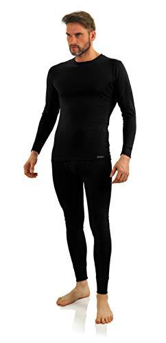 Sesto Senso® heren ondergoed lange set katoen 95% lange mouwen onderhemd lange onderbroek thermische ondergoed winterondergoed functioneel ondergoed