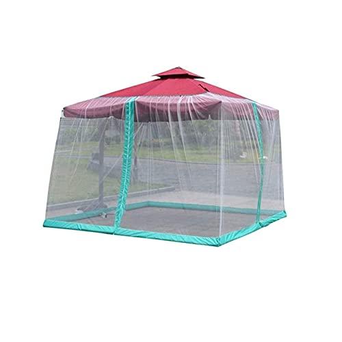 Red para Sombrilla de Jardín Cubierta de jardín MOSQ-UITO al aire libre con cremallera apertura de jardín Pantalla de malla de poliéster excluyendo paraguas y fundación Red de terraza para Gazebo