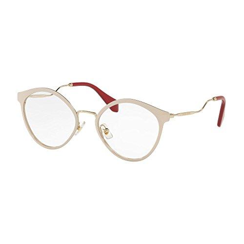 Miu Miu Damen 0MU 52QV Sonnenbrille, Pink Glitter (4ud1o1), 52