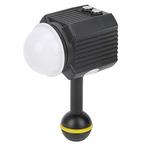 Goshyda Luz de Relleno para fotografía de Buceo a Prueba de Agua, luz de Video LED para cámara subacuática de 60 m con múltiples Modos de iluminación y protección de Apagado automático