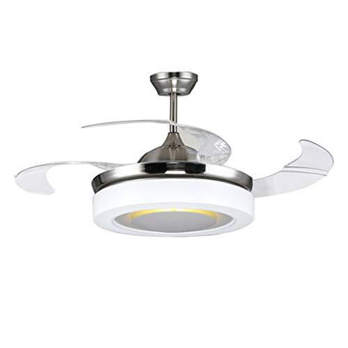 Ventilateurs de Plafond avec Lampe intégrée Ventilateur De Plafond Éclairage De Ventilateur De Plafond À LED Éclairage De Ventilateur De Plafond De La Télécommande De La Chambre À Coucher Salon De La