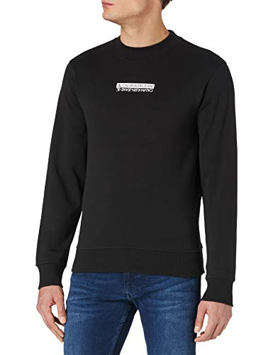 Calvin Klein Jeans Herren Micro Mirrored Mock Neck Mikroverspiegeltes Logo, Ck Schwarz, M