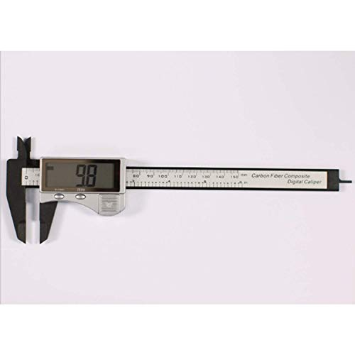 GUOCAO Calipers - Herramienta de medición digital de calibrador digital electrónico con pantalla LCD grande de 0 a 6 pulgadas con conversión métrica/2 piezas de herramientas