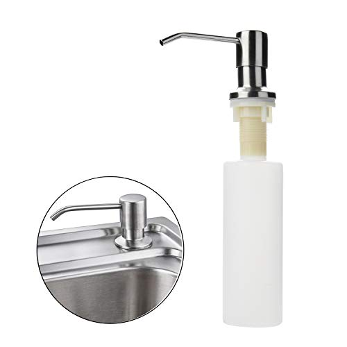 Yizhet aanrecht zeepdispenser wasmiddel dispenser 300ML set hervulbare roestvrij staal voor douche keuken/zeepdispenser zeeplotion dispenser, gereedschap voor thuis aanrecht