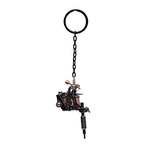 Baoblaze Schlüsselanhänger Schlüsselring (Mini Tattoo Maschine) - Schwarz 05