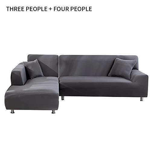NIBESSER Sofabezug Sofaüberwürfe für L-Form Sofa elastische Stretch Sofabezug Sofa Überzug