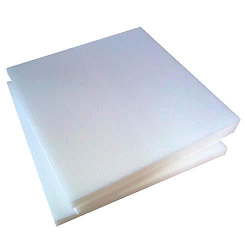 Arketicom - Relleno cuadrado para sillas, de poliuretano expandido, alta densidad, 30HD, 3cm de grosor, 5tamaños - 6 unidades