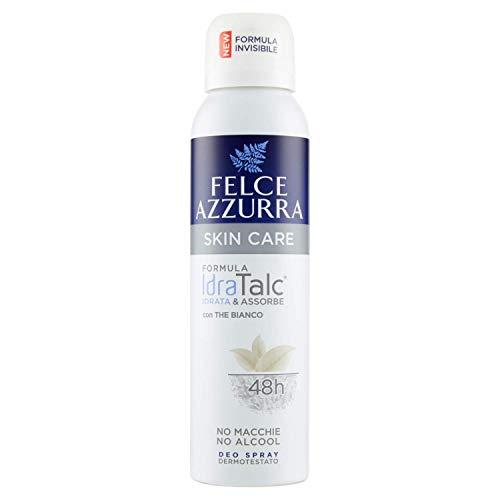 Felce Azzurra - Deodorante Spray Skin Care con The Bianco, Formula IdraTalc, Efficacia 48 Ore, Non Macchia - 150 ml