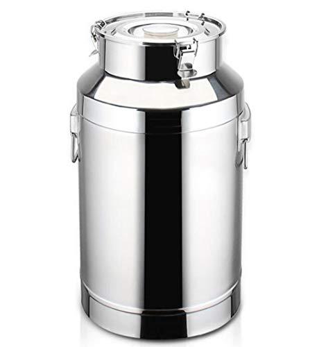 JBHURF Barril Sellado/Acero Inoxidable Barril/Tambor de Aceite/Leche Sellado depósito de Transporte Tanque de Almacenamiento de Barril/Cocina/Barril de Vino/Materia Prima/Comida sellada Tanque