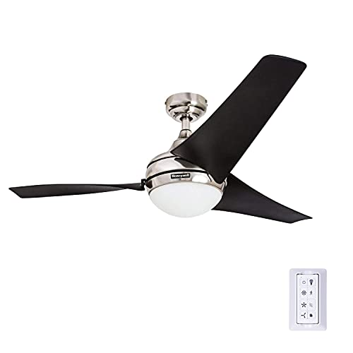 Honeywell 50195 Rio 52' Ceiling Fan with Remote Control, Contemporary Integrated LED Light...