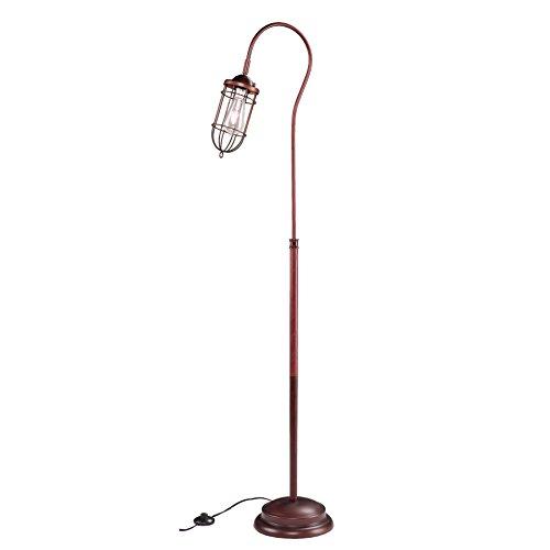 SEI Furniture Tanner Floor Lamp, Copper Bronze