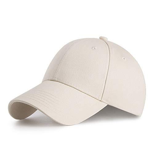 HGDGears Baumwolle Baseball Kappe Snapback Trucker Cap Verstellbar Sport Visier Hut für Herren und Damen (Beige)