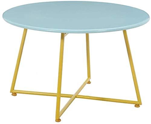 HXF- Kleiner Couchtisch Kreativ Blau/Rosa Runder Kleiner Tisch Eisentisch 60 * 42cm,80 * 48cm dauerhaft (Color : Blau,...