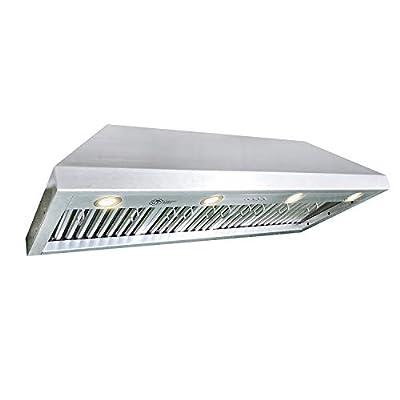 CT Copper Tailor Range Hood Insert/Liner,42 Inch,with 4-Speed Fan, LED Light, Dishwasher-safe Baffle Filter,Stainless Steel,960CFM