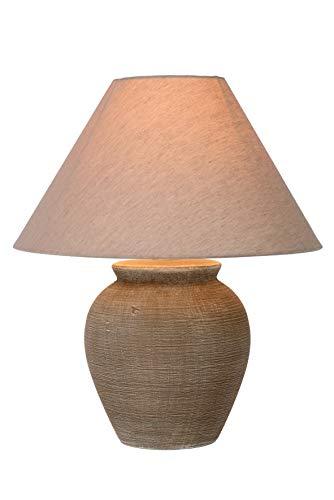Lucide 47507/81/43 Ramzi Lampe de Table, Céramique, E27, 60 W, Brun, 34 x 34 x 42 cm
