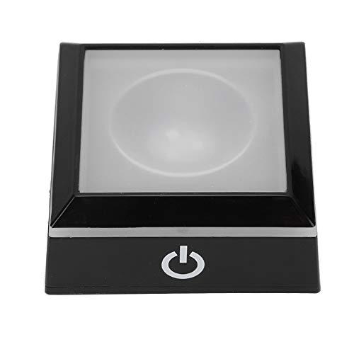 Jingyig Soporte de lámpara con Base de luz LED 3D, Base de lámpara, Soporte de luz Cuadrado Estatuas de Cristal 3D para el hogar de Cristal Art