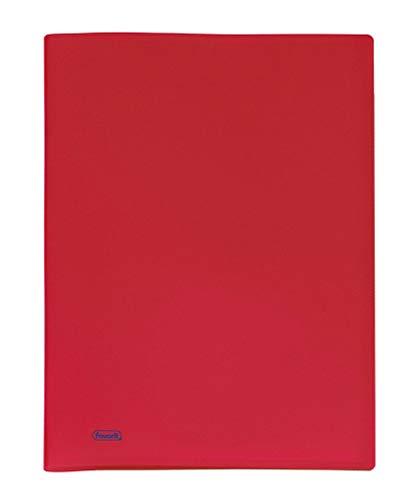 Favorit 100460309 - Portalistino, Formato Interno 22 x 30 cm, 80 Buste, Rosso