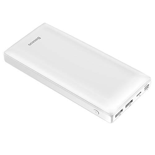 KOLOSM Banco de energía Power Bank 30000mAh Bank Fast Paver Portátil Cargador de batería Externa (Battery Capacity : 30000mAh, Color : White)