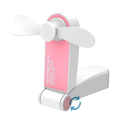 hemwoo Rechargeable Hand Held Fan Hand. Held Fan Portable Handheld Fan Fan Handheld Folding Hand Held Electric Fan Battery Handheld Fan Handheld Usb Fan pink