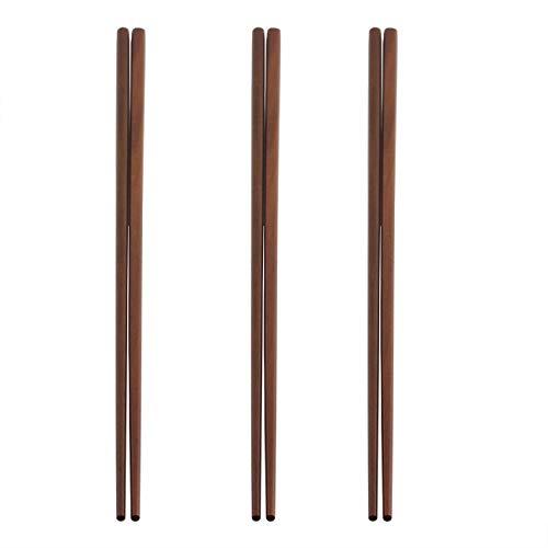 JCBIZ 16.5' Extra Long Chopsticks Wooden Lengthened Chopsticks Home Kitchen Tableware Accessories for Hot Pot Cooking Frying Noodle Reusable Super Long Handled Chinese Chopstick 42cm