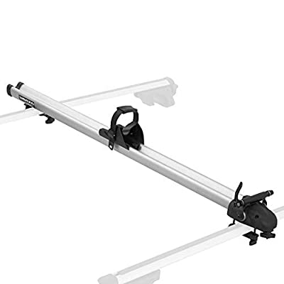 Venzo 1x Clamp on or T Bolt Attachment to Cross Bars 9 or 10mm QR Compatible Aluminum Carrier Bicycle Fork Mount Rack - for Car Roof - Rooftop Upright for SUV - Mountain & Road Bike
