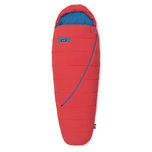 Qeedo Buddy Schlafsack in Eiform, Mumienschlafsack für Damen und Herren, extra breit, rot