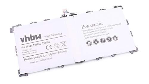 vhbw batería Compatible con Samsung Galaxy Note 12.2 3G, 12.2 LTE 32GB, 12.2 WiFi, 12.2 Tablet (9500mAh, 3,8V, Li-Ion)