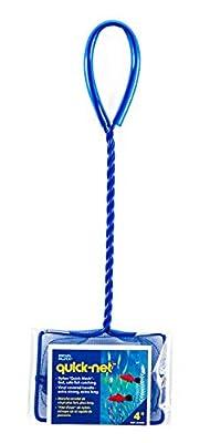 Penn Plax Aquarium Fish Net – Aqua Blue Quick Catch Mesh Wire Net Safe for All Fish – 4 Inches