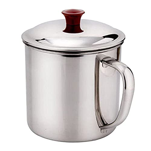 XUYUHUHU 480ml Stainless Steel Travel Camping Cup Coffee Tea Handle Cup Kitchen Noodle Cup Bar Drinking