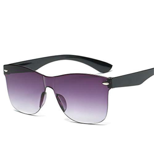Burenqi Moda Gafas de Sol sin Montura Cuadrada Mujer diseñador Vintage Recubrimiento Gafas de Sol UV400,3