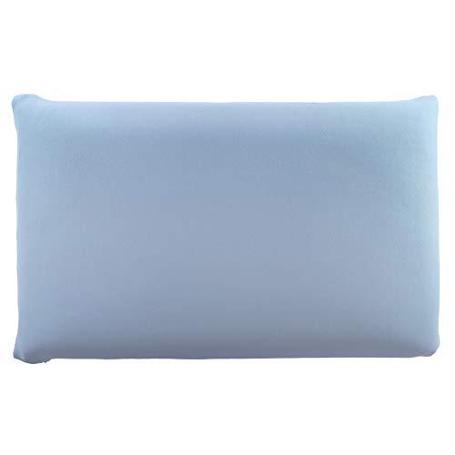 Edda Lux - Funda para almohada (72 x 42 cm, 70 x 42 cm, 100% algodón, con cremallera), color azul claro