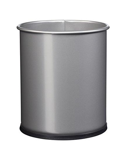 ROSSIGNOL Papea Corbeille A Papier Metal-8L Gris métal, Acier, 21x21x25,5 cm