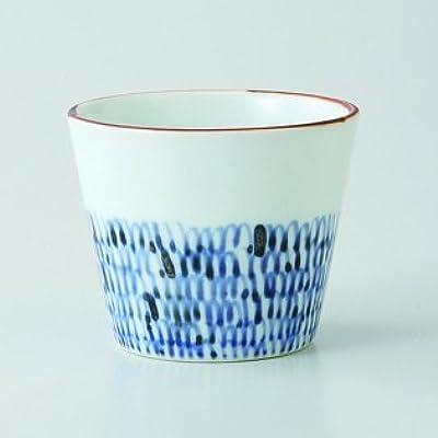 Japanese porcelain Hasami ware. Set of 3 mijin karakusa small bowls. hsm-J40