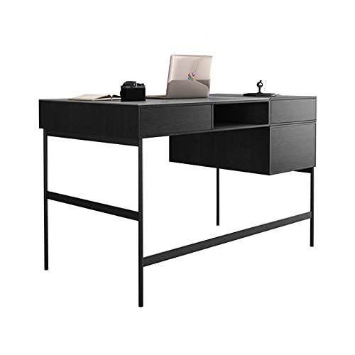 Estudiar escritura de escritura Escritorio de pizarra de lujo ligero 1.2m 1.4m minimalista escritorio de oficina en casa ORDENADOR PERSONAL Estación de trabajo con doble cajones y compartimentos de al