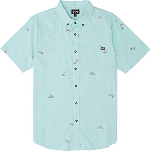 Billabong Men's Sundays Mini Short Sleeve Shirt Black Large