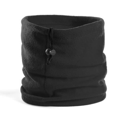 Tucuman Aventura - Écharpe Circulaire Tube Tubulaire de Polartec et Les Cheveux (Noir)