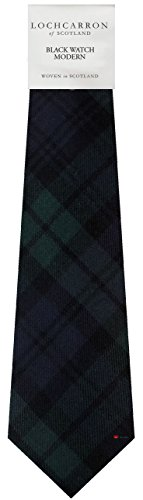 I Luv Ltd Gents Neck Tie Black Watch Modern Tartan Military Lightweight Scottish Clan Tie