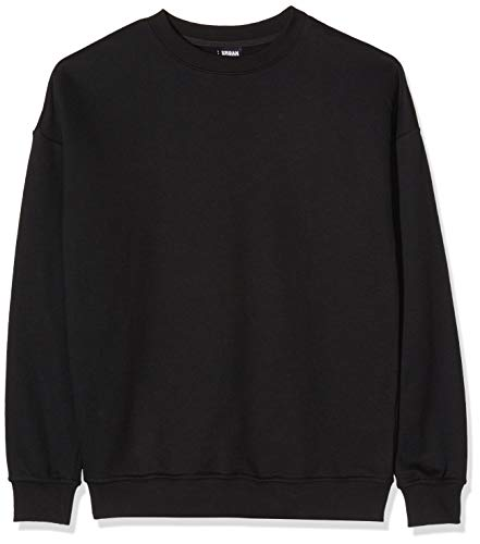 Urban Classics Herren Sweat Crewneck Pullover, black, 4XL