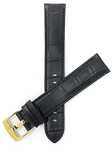 Bandini Correa de reloj de piel para hombre, con o sin puntada, 8 colores, 18 mm, 20 mm, 22 mm, 24 mm, 26 mm