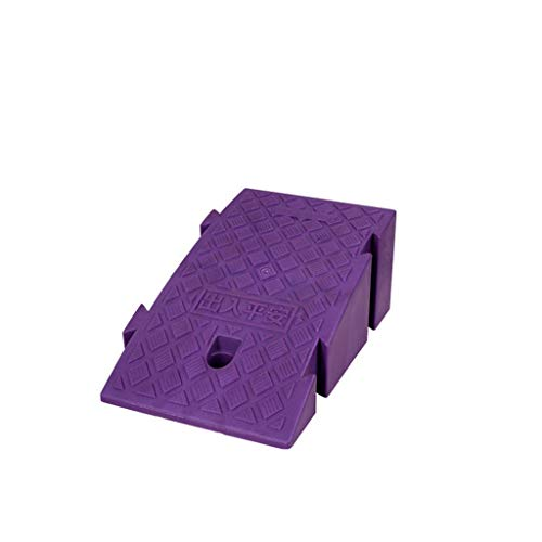 XUZgag Dreieckige Straße den Hang entlang, Kunststoff Uphill Rampen thermoAußen Rampen Kinderfahrrad Rampen/Schraube Loch-Design Sicher bergauf Pad (Color : Purple, Size : 25 * 40 * 16cm)