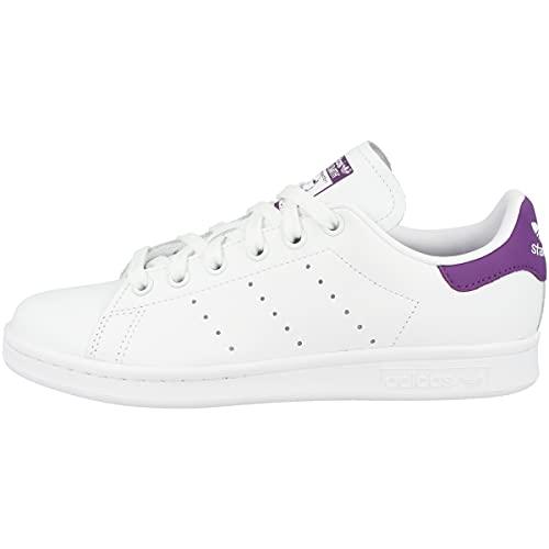 adidas Stan Smith W, Chaussures de Gymnastique Femme, Blanc (FTWR White/Active Purple/FTWR White FTWR White/Active Purple/FTWR White), 38 EU