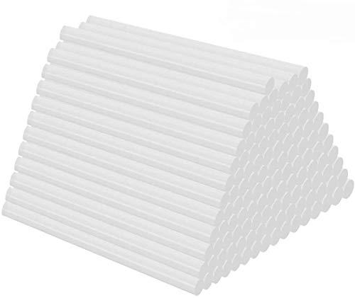 Barras de pegamento termofusible 100 Piezas Pegamento Termofusible Transparente Adhesivos Barras de Cola Termofusible 7 x 100 mm para pistola de pegamento caliente manualidades y reparaciones