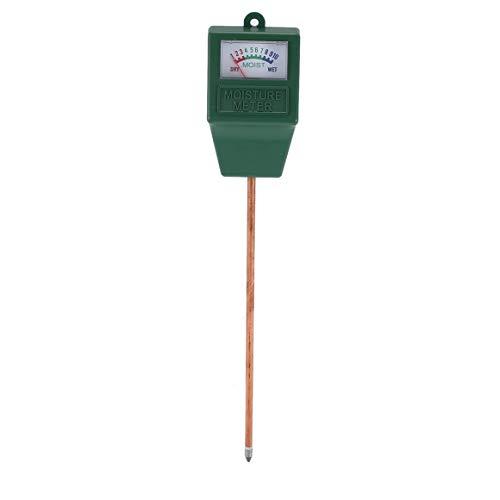 Medidor de humedad del suelo, medidor de humedad del suelo de plantas de jardín, analizador hidropónico, herramienta de medición de humedad para plantas de jardín de interior al aire libre (verde)