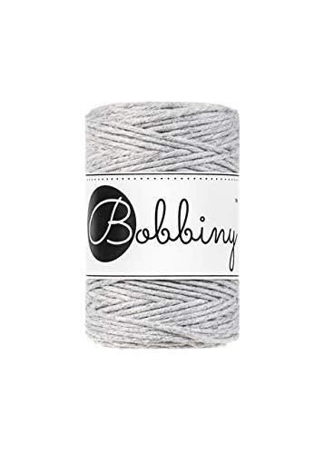 Bobbiny Baby - Cordón de macramé (1,5 mm, 100 m), color gris