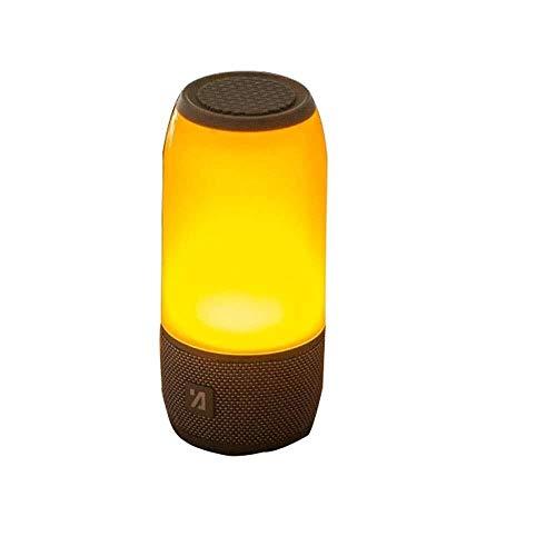 XFSE Bunter Umgebungslicht-Bluetooth-Sprecher-tragbares Drahtloses Karten-kleines Solides Flammen-Licht Im Freien (Color : Black)